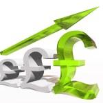 Conceptual 3D British pound symbol — Stock Photo #68269077