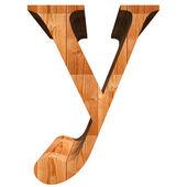 Conceptual wood font — Stock fotografie