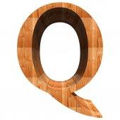 Conceptual wood font — Zdjęcie stockowe