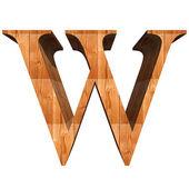 Conceptual wood font — 图库照片