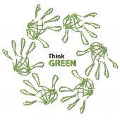 Ecology hand print symbol — Stok fotoğraf