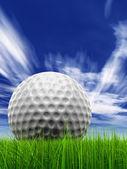 Golf ball at horizon — Stock Photo