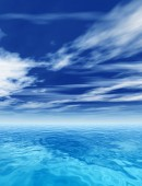 Waves and sky cloudscape — Stock Photo