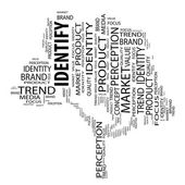 Business identify word cloud — Stock Photo
