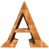 Conceptual wood font — Stock Photo