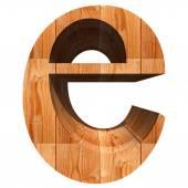 Fonte de madeira conceitual — Fotografia Stock