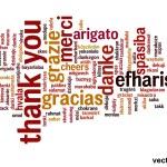 Conceptual thank you word cloud — Stock Vector #68268863