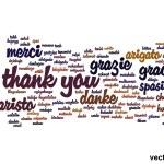 Conceptual thank you word cloud — Stock Vector #68269209