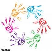 Conceptual child hand circle — Stock Vector