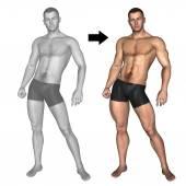 Bodybuilder vóór en na — Stockfoto