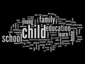 Education abstract word cloud — Stok fotoğraf