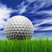 Golf ball at horizon — Stock Photo