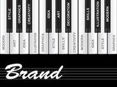 Text piano keys — Stock Photo