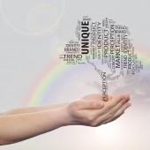 Media word cloud — Stock Photo