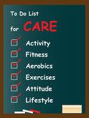 Conceptual white health  text blackboard — Stock Photo