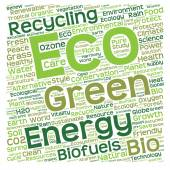 Energy text word cloud — Stock Photo