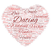 Valentine's Day word cloud — Stock Photo