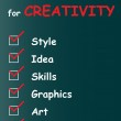 Creativity text word cloud — Stock Photo #68930213