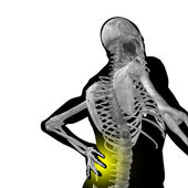 Man anatomy with back pain — Stok fotoğraf
