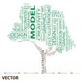 Art word cloud — Stock Vector