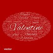 Love word cloud — Stock Vector