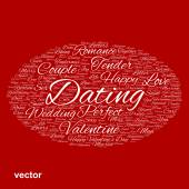 Valentine word cloud — Stock Vector