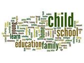 Child abstract word cloud — Stock Photo