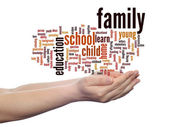 Family abstract word cloud — Stockfoto
