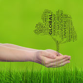 Ecology text word cloud — Stock Photo