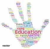 Education hand print — Stock Vector