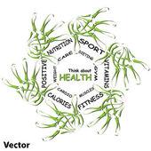 Health word cloud — Stock Vector