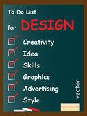 Design to do list on blackboard — Stock Vector