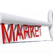 Conceptual white market  key — Stock Photo #69602023