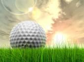 Golf ball at horizon — 图库照片