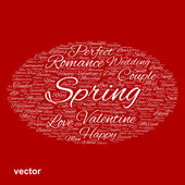 Valentine word cloud — Stockvector