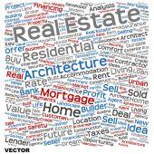 Conceptual real estate word cloud — Stock Vector