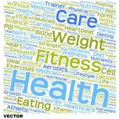 Kavramsal sağlık kelime bulutu — Stok Vektör