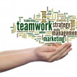 Teamwork word cloud — Stock Photo #69913971