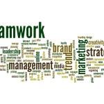 Abstract teamwork success word cloud — Stock Photo #69914503