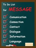 Message chalk text blackboard — Stock Photo