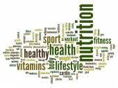 Nuage de mot nutrition — Photo