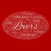 Valentine's Day wordcloud text' — Stock Photo