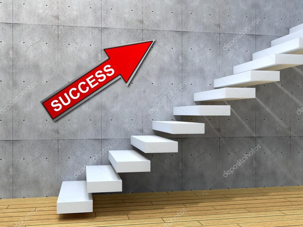 Scale di calcestruzzo vicino ad una parete — foto stock © design36 ...