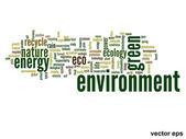 Ecology word cloud — Stock Vector