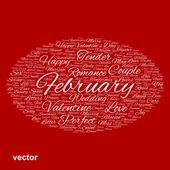 'Valentine word cloud — Stock Vector