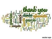Conceptual thank you word cloud — Stock Vector