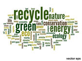 Ecology word cloud — Stock Vector