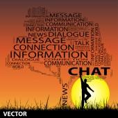 Conceptuele contact boom — Stockvector