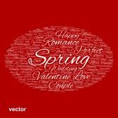 Valentine word cloud — Stock Vector