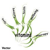 Health concept text — Stock Vector